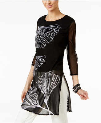 Alfani Long Illusion Tunic, Only at Macy's $59.50 thestylecure.com