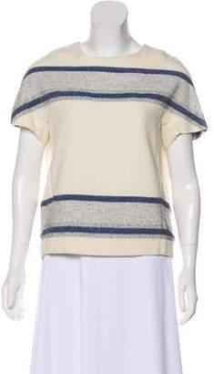 Closed Tweed Short Sleeve Top