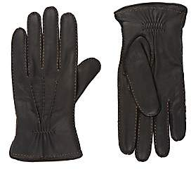 Barneys New York Men's Leather Gloves - Black