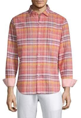 Tommy Bahama Nod To Madras Plaid Shirt