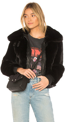 Blank NYC BLANKNYC Black Noise Faux Fur Jacket