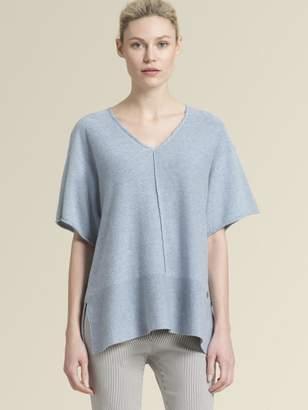 DKNY Linen-Blend V-Neck Pullover