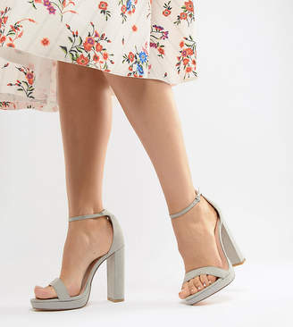 Coco Wren Wide Fit Platform Heeled Sandals
