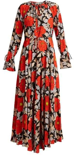 Boswell floral-print silk dress