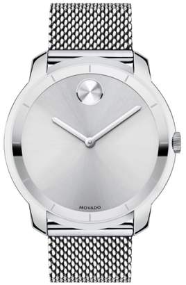 Movado 'Bold' Mesh Strap Watch, 44mm