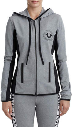 True Religion WOMENS ATHLETIC RUNNER ZIP UP HOODIE