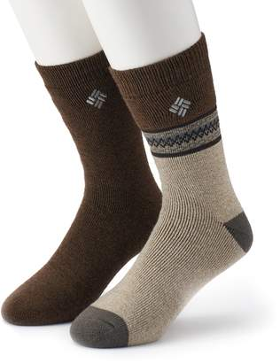 Columbia Men's 2-pack Patterned Thermal Crew Socks