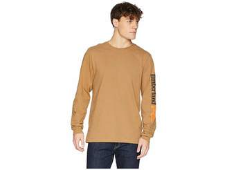 Timberland Base Plate Blended Long Sleeve T-Shirt w/ Logo