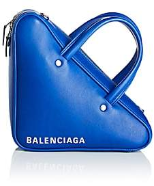 Balenciaga Women's Triangle Extra-Small Leather Duffel Bag-Blue