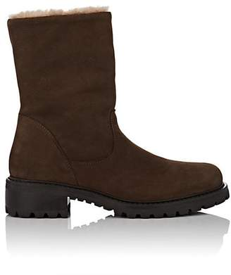 Barneys New York Women's Nubuck & Shearling Lace-Up Ankle Boots