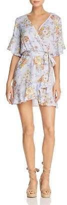 Sadie & Sage Floral-Print Faux-Wrap Mini Dress - 100% Exclusive