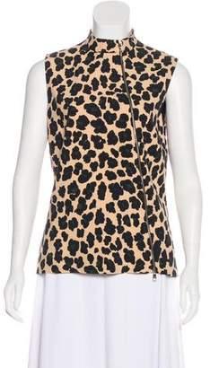 Christian Dior Leopard Print Sleeveless Top