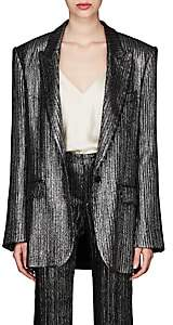 Isabel Marant Women's Datja Metallic Striped Blazer - Silver