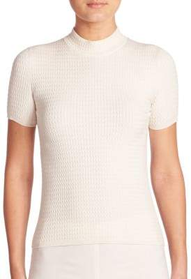 Akris Stretch Cable Knit Pullover