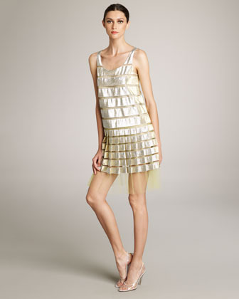 Marc Jacobs Metallic & Tulle Dress