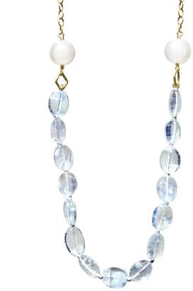 Cathy Waterman Rainbow Moonstone And Pearl Necklace