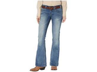Rock and Roll Cowgirl Trousers Jeans in Medium Vintage W8-8733