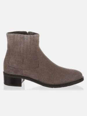 Aquatalia Suede Round Toe Booties