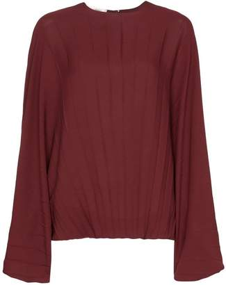 Valentino batwing sleeve pleated blouse