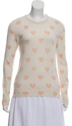 Equipment Heart Print Cashmere Sweater orange Heart Print Cashmere Sweater