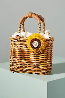 Serpui Marie Laura Wicker Basket Bag