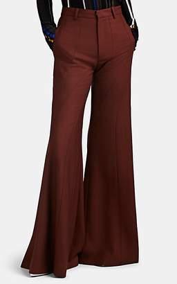 AKIRA NAKA Women's Wool-Blend Flared Trousers - Wine
