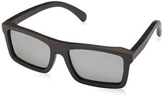 Earth Wood Unisex-Adult Hamoa Wood Sunglasses ESG022E Polarized Square Sunglasses