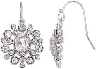 Lauren Conrad Simulated Crystal Nickel Free Circle Drop Earrings