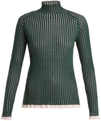Burberry Contrast-trim cashmere-blend sweater