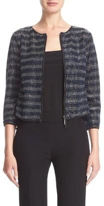 Women's Armani Collezioni Embroidered Stripe Jacket $1,895 thestylecure.com