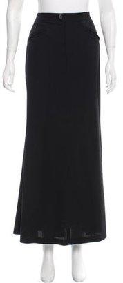 Jean Paul Gaultier Wool Maxi Skirt $125 thestylecure.com