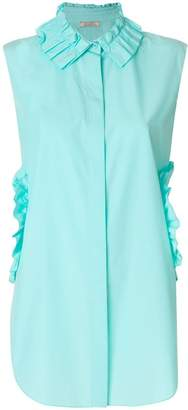 Nina Ricci cut out ruffle detail shirt