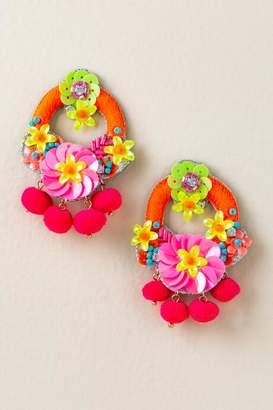 francesca's Cabana Sequin Statement Earrings - Multi