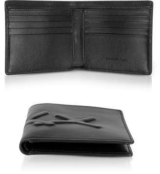 Ermenegildo Zegna Black XXX Embossed Leather Billfold Wallet