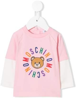 Moschino Kids rainbow logo print sweatshirt