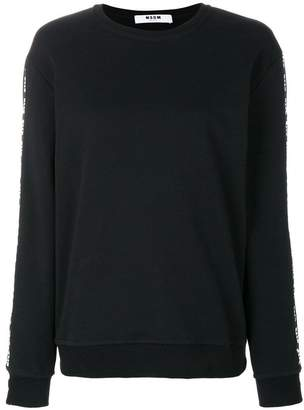MSGM round neck logo sweater