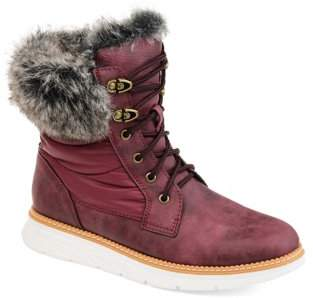 Brinley Co. Women's Lined Lace-up Snow Boot