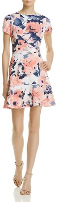 AQUA Floral Fit-and-Flare Dress - 100% Exclusive $78 thestylecure.com