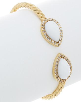 Rivka Friedman 18K Clad Agate & Simulated Diamond Cuff