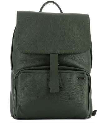 Zanellato Military Green Leather Backpack