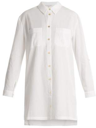 Heidi Klein Maine Point Collar Poplin Shirtdress - Womens - White