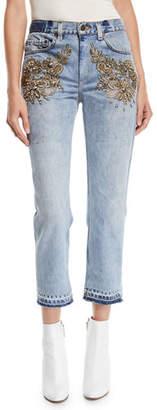 Le Superbe Superbe Embellished Straight-Leg Jeans