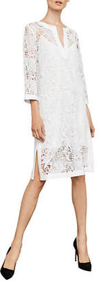 BCBGMAXAZRIA Floral Lace Shift Dress