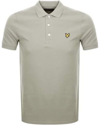 Lyle & Scott Short Sleeved Polo T Shirt Beige