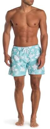 Trunks Surf and Swim CO. Swami Floral Print Swim Shorts