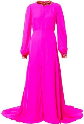 Sachin + Babi sequin collar evening dress