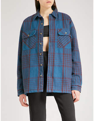 Yeezy Season 5 oversized cotton-flannel shirt