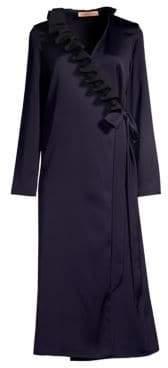 You Say It Best Ruffle Wrap Dress