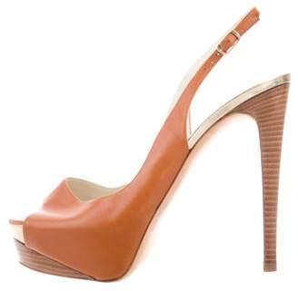 Rupert Sanderson Leather Slingback Platform Sandals