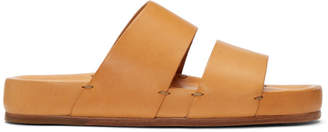 Feit Tan Two-Strap Sandals
